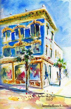 Jennifer Branch, sketching in Charleston
