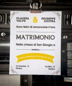 Partecipazioni di Matrimonio / Wedding invitation By Il Laboratorio di Carta 2013/14 Collection - Yellow Model