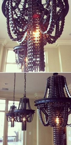 No. 19 - Bike Chain Chandeliers