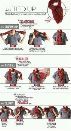 3 ways to tie a scarf