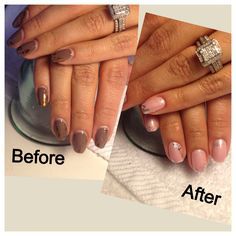 A 2 Week Wear Before After With Creative Nail Shellac