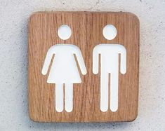 Wooden Restroom door plate with engraved male and female symbol, unisex bathroom sign, gender neutral bathroom sign, men women bathroom sign Unisex Bathroom Sign, Wooden Bathroom, Guest Toilet, New Toilet, Gender Neutral Bathroom Signs, Guest Room Decor, Wooden Plaques, Door Signs, Wood Doors