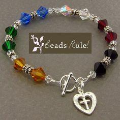 Crystal Salvation Awareness Bracelet