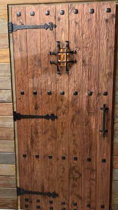 Wine Cellar Door, solid cedar door, hand scraped for the old world look. Modern Wood Doors, Wood Front Doors, Contemporary Doors, Rustic Doors, Wooden Gate Door, Cedar Door, Grill Door Design, Door Gate Design, Wine Cellar Design