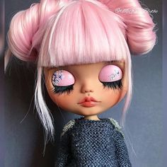 Doll Blythe Makeup New Ideas Ooak Dolls, Blythe Dolls, Girl Dolls, Barbie Dolls, Doll Eyes, Doll Face, Doll Crafts, Diy Doll, Doll Tattoo