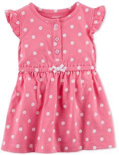 93d18390981 Carter s Baby Girls Dot-Print Cotton Sundress Baby Girl Frocks