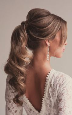 Long Curly Hairstyle   Ponytail