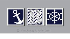 Hey, I found this really awesome Etsy listing at http://www.etsy.com/listing/153478553/sale-nautical-3-print-set-chevron-navy