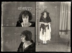 1920s mug shot photo women