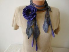 Purple felted wool necklace Felt flowers scarf women Felted flower brooch Felted jewelry Original gift for mom Felted lariat Floral scarf Felt Flower Scarf, Felt Flower Bouquet, Nuno Felt Scarf, Floral Scarf, Wool Scarf, Felt Flowers, Flower Brooch, Wool Felt, Felted Wool