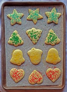 One of my favorite parts of the holiday season is the annual tradition of making Christmas cookies — the feel of the flour-dusted rolling pin in my hands, unpacking my vintage tin cookie cutters, nibbling on scraps of dough, the dazzle and glitz of decorating sugar and dragées.  http://www.12newsnow.com/story/24146775/gluten-free-classic-christmas-cookies