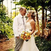 Exquisite Florals for your Destination Wedding in Hawaii. Don't be afraid to bring in bright colors to center your wedding color palette.  Check out www.blissinbloom.com for more details about coordination for your destination wedding in Hawaii. www.blissinbloom.com Photographer: — #HawaiiWeddings #WeddingFlorals #WeddingBouquets #BrideBouquets #DestinationWedding #WeddingIdeas #BlissInBloom #Florals #Bride #Weddings #Bouquets #BeachWedding #OrangeWedding