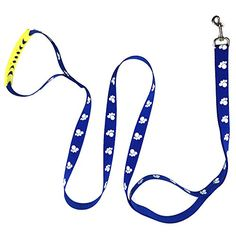 Dog Leash PYRUS Reflective Double Handle Dog Training Leash with Soft handle for dogs cats and another pets Blue >>> Continue to the product at the image link.