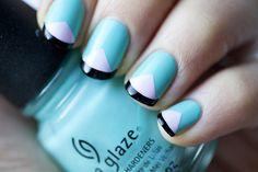 Pretty nail design!