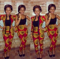 – African Designers Corner We though you would love to see some of our Random Ankara Styles. African Inspired Fashion, African Print Fashion, Africa Fashion, Fashion Prints, African Print Dresses, African Fashion Dresses, African Dress, African Prints, African Clothes