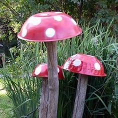 Mushroom decor. Next craft to add to the enchanted forest