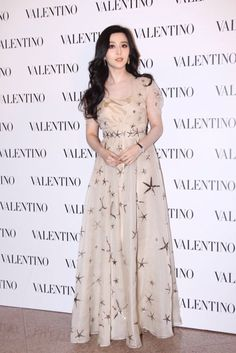 Fan Bingbing in Valentino Spring 2015  in Hong Kong on February 5, 2015