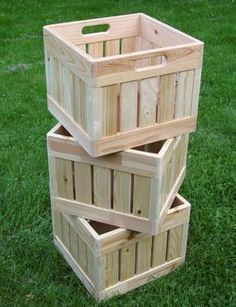 Make your own milk crates, then stencil, carve, or engrave.