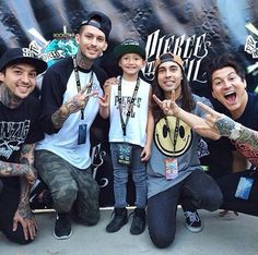 Pierce The Veil I love how they all crouched down, and how happy they look
