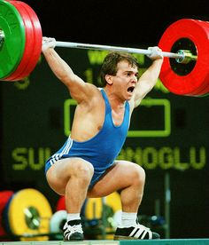 Olympic Weightlifting Greats - Naim Suleymanoglu - Turkey:  The great Pocket Hercules (Suleymanoglu is 4 feet, 10 inches) was the first three-time Olympic weightlifting champion -- 1988, 1992 and 1996.
