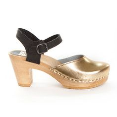 Two Tone Metallic Clog Gold II, $175, now featured on Fab.   http://fab.com/browse/women-clogs/?ref=subnav&page=1