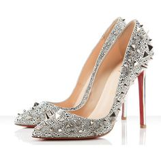 Christian Louboutin Spiked Silver Pigalili 120 mm $3595