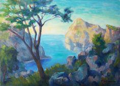 Thomas Stellmacher  - Bay with Coastal Mountains in Evening Light