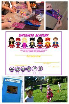 superhero party game ideas