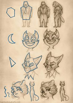 Tracyjb's guide to character design, author and artist of Lackadaisy Cats.