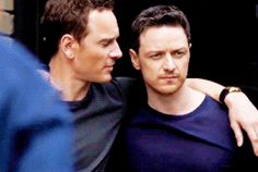 Michael Fassbender and James McAvoy behind the Scenes at the Details Magazine Cover Shoot