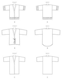 Vogue Patterns Sewing Pattern Misses' Kimono Jackets Vogue Sewing Patterns, Clothing Patterns, Travel Wardrobe, Kimono Jacket, Jacket Pattern, Quilted Jacket, Mode Inspiration, Couture, Kimonos