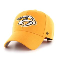 1add535d2fc6d Nashville Predators 47 Brand MVP Gold Clean Up Adjustable Hat