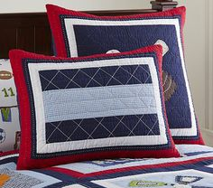 Jake Quilted Bedding #pbkids