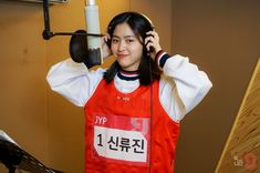 ryujin at the mic ❤️😊- New Girl, Your Girl, South Korean Girls, Korean Girl Groups, Jyp Trainee, Songs With Meaning, These Girls, Woman Crush, Girl Crushes