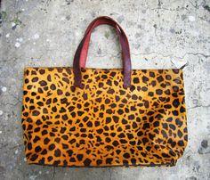 Cheetah Print Oversized Tote