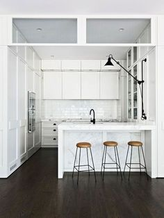 WHITE | KITCHEN | BLACK | WOOD | INTERIOR | INTERIEUR |