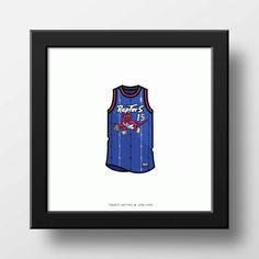 Toronto Raptors 1999 Vince Carter Jersey Illustration Classic
