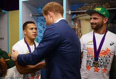Prince Harry congratulates South African rugby team on their World Cup final victory over England First World Cup, World Cup Final, Women's World Cup, England Players, England Fans, South African Rugby, Prince Albert Of Monaco, World Cup Match, Rugby Club