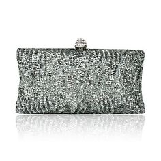 Gorgeous Satin With Sequins Evening Handbags/ Clutches More Colors Available - USD $ 19.20