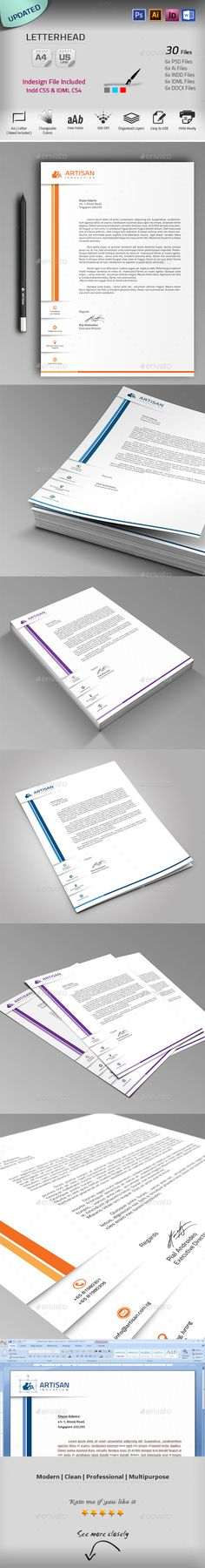 Letterhead Pinterest Stationery printing, Print templates and