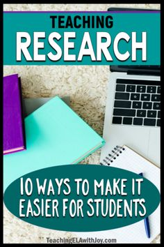 Teaching research skills to middle school students is a gigantic task! Here are 10 Ideas to Make Teaching Research Easier! 3rd Grade Writing, Middle School Writing, Middle School English, Middle School Classroom, High School, Teaching Writing, Teaching Ideas, Teaching Tools, Teaching Resources