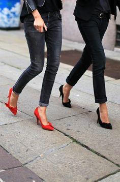 matching #heels x #streetstyle