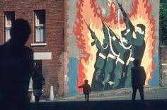 Stuart Franklin  NORTHERN IRELAND. Belfast. Republican Mural. 1985