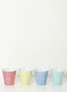 Set of 4 Polka Dot Cups