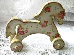 """Horse"" Wonderful Handmade Wooden Dollhouse Nursery Child Room Furniture Decor"