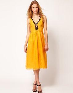 Kore by Sophia Kokosalaki Star Trim Midi Dress
