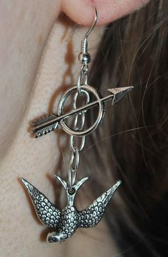 Awesome earrings- @Kerri S. S. Dyck #hungergames