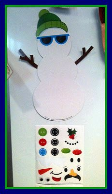 Behavior management tool! Add a sticker every time the whole class is being good - if you complete your snowman by the end of the month the class gets a small prize!