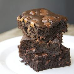 Brownies so moist, chocolatey & delicious that you won't care that they are gluten free, high fiber and low fat. Seriously.