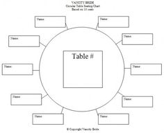 free wedding budget worksheet printable and easy to use circular table chart for 10 guests - Free Printable Wedding Seating Chart Template